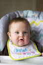 Baby Girl Being Fed Stock Photography - 84142642