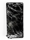 Mobile Phone With Broken Screen Royalty Free Stock Photo - 84153965