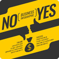 Yes And No Sign Of Product Quality. Royalty Free Stock Images - 84156449