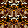 Seamless Vector Pattern With Animal Prints. Royalty Free Stock Images - 84158399
