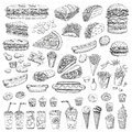Vector Set Fast Food Royalty Free Stock Images - 84172209