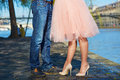 Male And Female Legs During A Date Royalty Free Stock Photography - 84177137