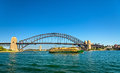 City Ferry Under The Sydney Harbour Bridge - Australia Royalty Free Stock Photos - 84187398