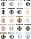 Button, Set Of Buttons That Are Metal And Light Royalty Free Stock Photos - 8425978