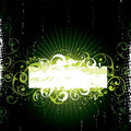 Green Floral Banner Royalty Free Stock Photo - 8426975