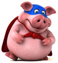 Fun Pig - 3D Illustration Royalty Free Stock Images - 84205299