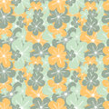 Abstract Colorful Yellow Blue Flowers Seamless Pattern Background Illustration Stock Photos - 84214133
