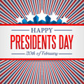 Presidents Day Background. USA Patriotic Vector Template With Text, Stripes And Stars In Colors Of American Flag. Stock Photos - 84224763