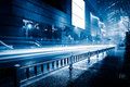 Blurred Traffic Light Trails On Road At Night Royalty Free Stock Photography - 84226067