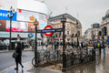Piccadilly Circus Entrance/exit To The Underground Stock Photography - 84227762