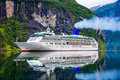 Cruise Liners On Geiranger Fjord, Norway Stock Photo - 84232110