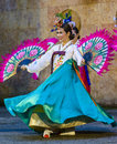 Female Performer Of Traditional Korean Dance Royalty Free Stock Images - 84247289