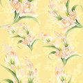 Tuberose - Branches. Seamless Pattern. Medicinal, Perfumery And Royalty Free Stock Photography - 84283127