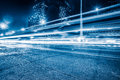Blurred Traffic Light Trails On Road At Night Royalty Free Stock Photos - 84291068