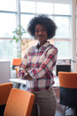 Portrait Of A Young Black  Casual Business Woman Royalty Free Stock Images - 84295899