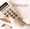 Contact Royalty Free Stock Image - 8436086