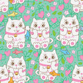 Cat Gift Sweet Seamless Pattern Royalty Free Stock Photo - 84300375