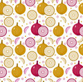 Onions Seamless Pattern. Bulb Onion Endless Background, Texture. Vegetable . Royalty Free Stock Photos - 84309548
