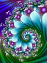 Blue And Green Wave Fractal Royalty Free Stock Image - 84311156