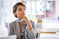 Thinking Business Woman Royalty Free Stock Image - 84318856
