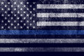 Aged Textured Police Support Flag Background Stock Photos - 84322363