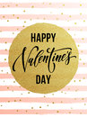 Happy Valentine Day Gold Glittering Greeting Card Royalty Free Stock Images - 84327389