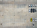 Empty Parking Lots In Supermarket, Aerial View. Royalty Free Stock Photos - 84329978