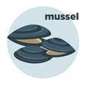 Vector Illustration Mussel. Seafood Icon. Stock Images - 84332714