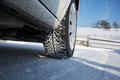Winter Tire In Snow. Royalty Free Stock Image - 84338206