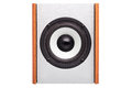 Acoustic Column With White Loudspeaker. Stock Images - 84342764