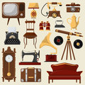 Vintage Home Furniture And Accessories. Royalty Free Stock Photography - 84350107