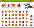 Counting Activity With Fruits Stock Photos - 84352343