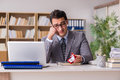 The Sad Man In Online Dating Concept Stock Image - 84379781