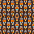 African Mask Vector Seamless Pattern. Stock Photos - 84381013