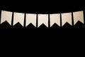 Bunting, Seven White Shapes On String For Banner Message Stock Photography - 84383692