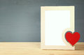 Blank Photo Frame With Red Heart Stock Photos - 84383883