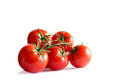Branch Of Fresh Red Tomatoes Isolated On White Backround Stock Photography - 84385382