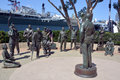 : Bronze Statues Of A National Salute To Bob Hope And The Military Royalty Free Stock Image - 84388386