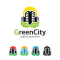 Green City Logo Template Design Vector Royalty Free Stock Images - 84396499