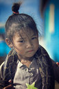 Poor Children And Snake From Cambodia Stock Photos - 8448393