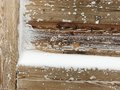 Old Wood Covered With Snow Background Royalty Free Stock Photo - 84402115