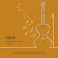 Abstract Music Violin Cover. Graphic Vector Poster Illustration. Modern Cute Card Line Background. Sound Concept Royalty Free Stock Photography - 84405667