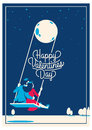 Cute Romantic Card For Valentine`s Day, Vector Illustration Stock Photo - 84409660