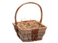 Wattled Basket With Hay. Royalty Free Stock Photos - 84419218
