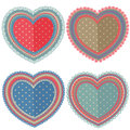 Set Of Isolated Vintage Hearts Royalty Free Stock Photo - 84431205