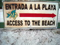 Sign Shows The Way To The Beach Stock Image - 84438871