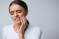 Tooth Pain. Beautiful Woman Feeling Strong Pain, Toothache Royalty Free Stock Photos - 84464978