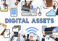 Digital Assets Accessible Unlock Information Concept Royalty Free Stock Images - 84467179
