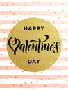 Happy Valentine Day Gold Glittering Greeting Card Royalty Free Stock Photos - 84483278
