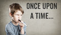 Once Upon A Time, Story Telling, Boy On Grunge Background Stock Images - 84491294